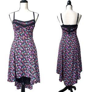 Silence + Noise Multicolor Print High-Low Dress